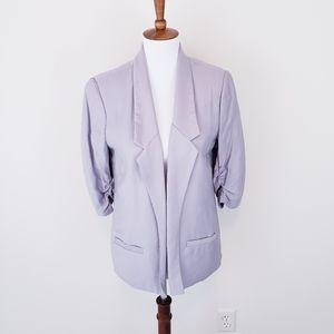 Silver Gray Open Blazer Jacket 10 Lauren Conrad